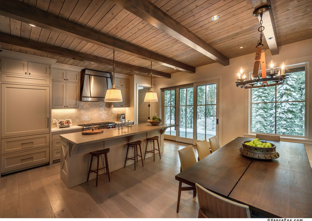 Cottage Kitchen With Pendant Light Exposed Beam In Truckee CA Zillow
