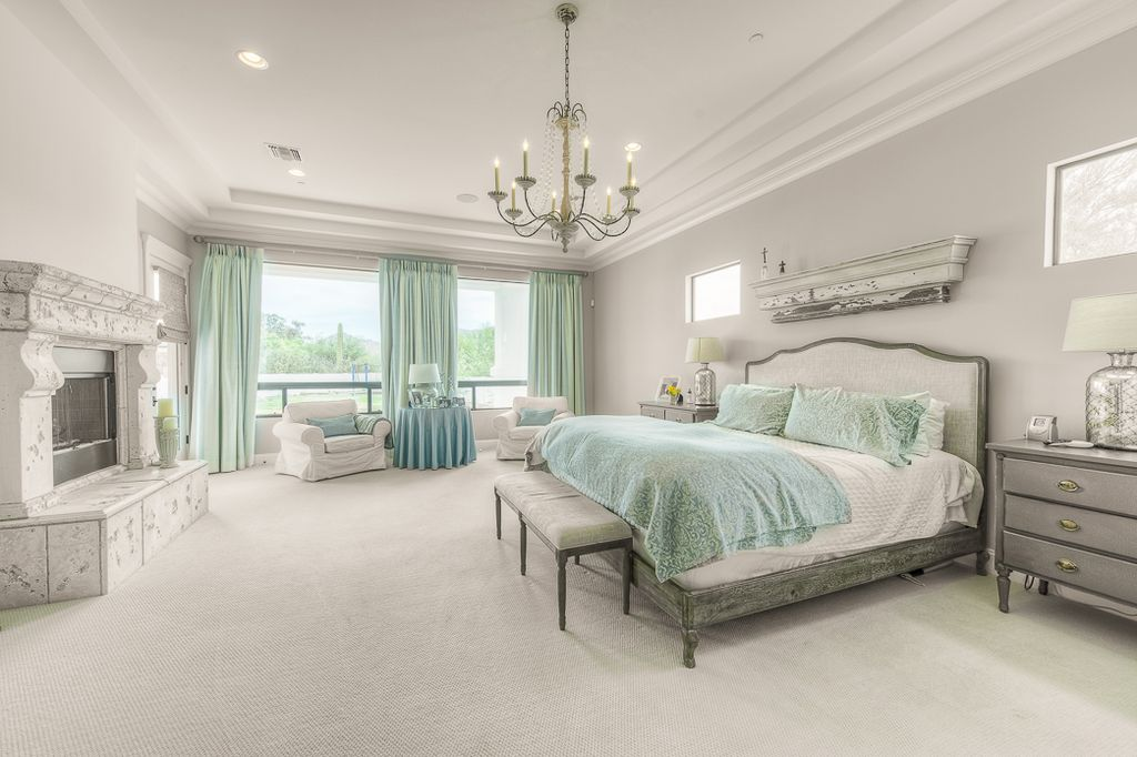 Traditional Master Bedroom with Fireplace 1024 x 682