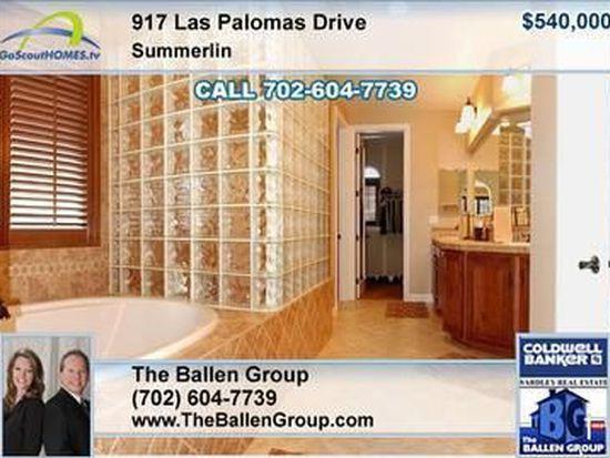 917 Las Palomas Dr, Las Vegas, NV 89138