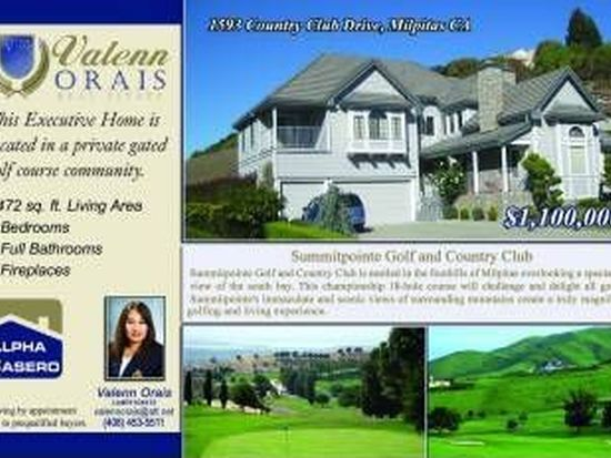 1593 Country Club Dr, Milpitas, CA 95035
