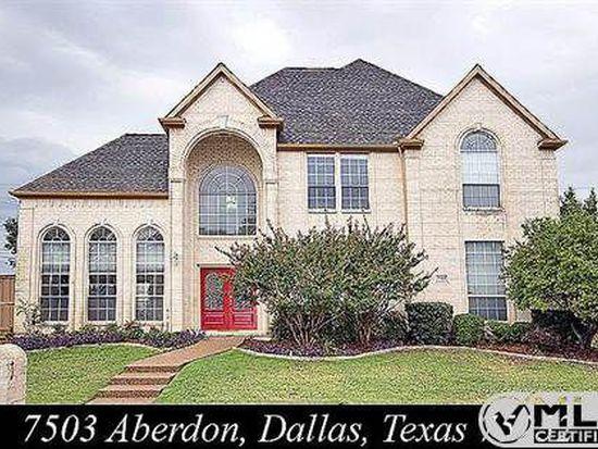 7503 Aberdon Rd, Dallas, TX 75252