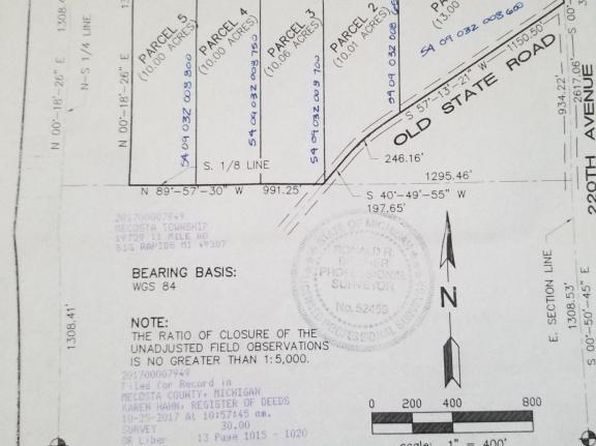null bed null bath Vacant Land at  Polk Rd Stanwood, MI, 49346 is for sale at 35k - 1 of 3