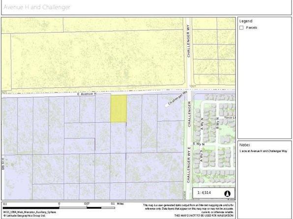 null bed null bath Vacant Land at  AVE H VIC CHALLENGER WAY LANCASTER, CA, 93534 is for sale at 62k - google static map