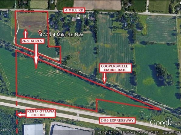 null bed null bath Vacant Land at 4770 4 MILE RD NW GRAND RAPIDS, MI, 49544 is for sale at 215k - 1 of 2