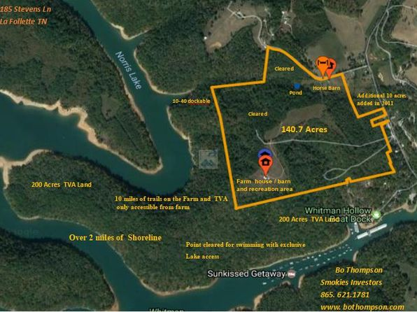 2 bed null bath Vacant Land at 185 Stevens Ln La Follette, TN, 37766 is for sale at 687k - 1 of 22