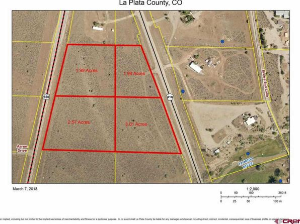null bed null bath Vacant Land at  Tbd S US Hwy Durango, CO, 81303 is for sale at 150k - google static map