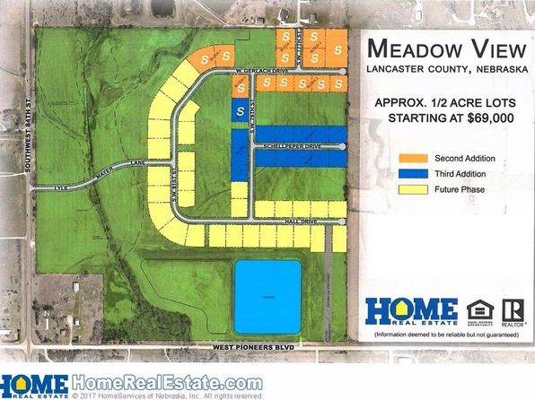 null bed null bath Vacant Land at 0 Meadow View 3rd Addition Lincoln, NE, 68532 is for sale at 78k - 1 of 7