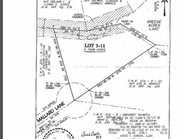 null bed null bath Vacant Land at 115 Mallard Ln Stanardsville, VA, 22973 is for sale at 10k - 1 of 5