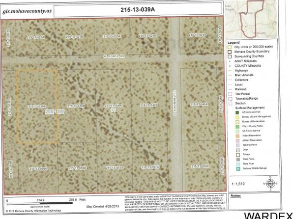 null bed null bath Vacant Land at  Ronda Ave Golden Valley, AZ, 86413 is for sale at 3k - google static map