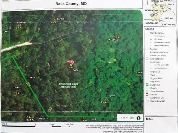 null bed null bath Vacant Land at 0-TRACT Deer View Pl Monroe City, MO, 63456 is for sale at 14k - google static map