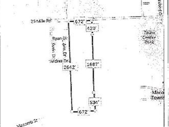 null bed null bath Vacant Land at 19550 25 MILE RD MACOMB, MI, 48042 is for sale at 1.80m - google static map