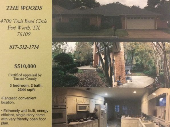 3 bed 3 bath Single Family at 4700 Trail Bend Cir Fort Worth, TX, 76109 is for sale at 499k - 1 of 5
