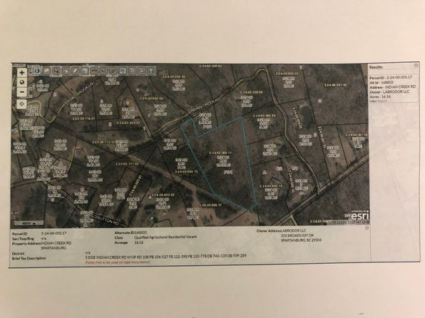 null bed null bath Vacant Land at  Indian Creek Rd Spartanburg, SC, 29302 is for sale at 175k - google static map