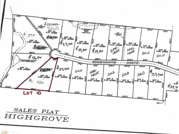 null bed null bath Vacant Land at 0 Highgrove Dr Zebulon, GA, 30295 is for sale at 28k - google static map