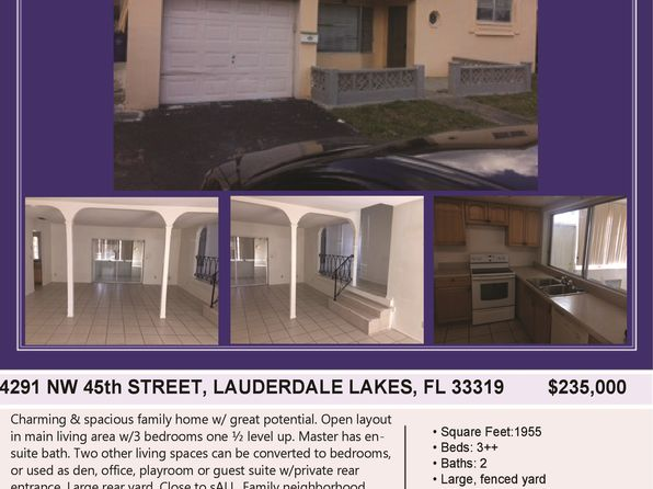 3 bed 2 bath Single Family at 4291 NW 45th St Fort Lauderdale, FL, 33319 is for sale at 235k - 1 of 13