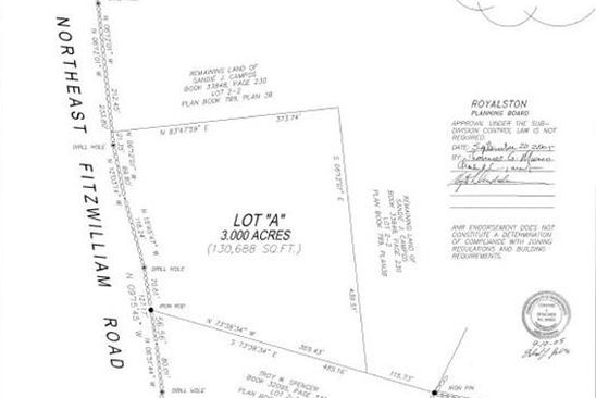 null bed null bath Vacant Land at  Map-Lot 3- NE Fitzwilliam Rd Royalston, MA, 01368 is for sale at 25k - google static map