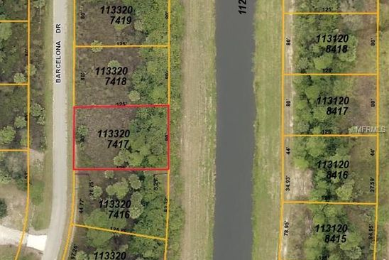 null bed null bath Vacant Land at  BARCELONA DR NORTH PORT, FL, 34288 is for sale at 10k - google static map