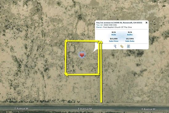 null bed null bath Vacant Land at 0 Vac/Vic Avenue M/165th St E Lancaster, CA, 93532 is for sale at 9k - google static map