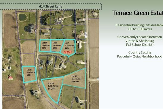 null bed null bath Vacant Land at  Terrace Green Ests Vinton, IA, 52349 is for sale at 38k - google static map