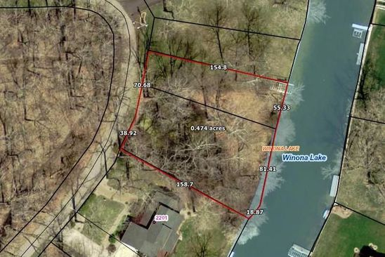 null bed null bath Vacant Land at  Tbd Isleview Dr Winona Lake, IN, 46590 is for sale at 75k - google static map