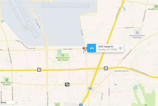null bed null bath Vacant Land at 5737 Howell St Houston, TX, 77032 is for sale at 30k - google static map
