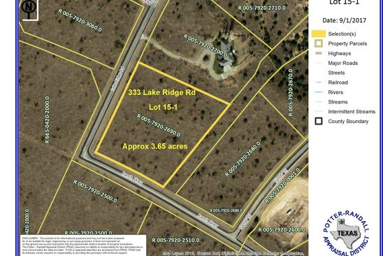 null bed null bath Vacant Land at 333 Lake Ridge Rd Amarillo, TX, 79115 is for sale at 44k - google static map