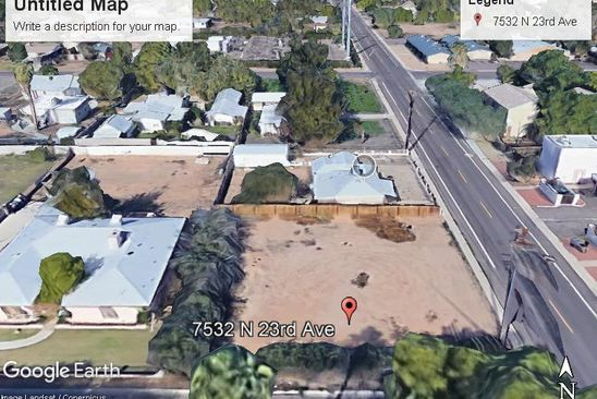 null bed null bath Vacant Land at 7536 N 23RD AVE PHOENIX, AZ, 85021 is for sale at 49k - google static map