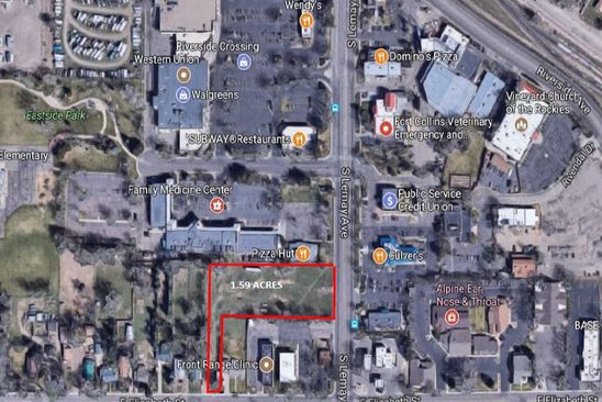 null bed null bath Vacant Land at 909 S Lemay Ave Fort Collins, CO, 80524 is for sale at 995k - google static map