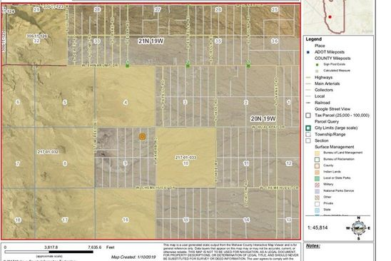 null bed null bath Vacant Land at 3032 S Keystone Rd Golden Valley, AZ, 86413 is for sale at 9k - google static map