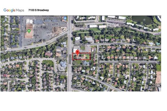 2 bed null bath Vacant Land at 7100 South Broadway Littleton, CO, 80122 is for sale at 725k - google static map