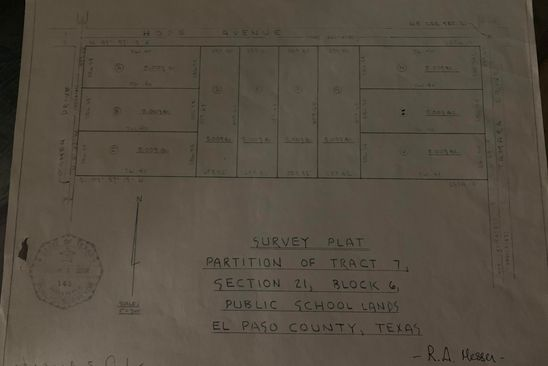 0 bed null bath Vacant Land at 15000 Hope Ave El Paso, TX, 79938 is for sale at 50k - google static map