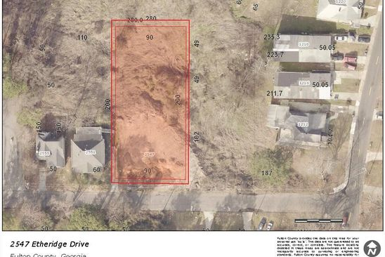 null bed null bath Vacant Land at 2547 Etheridge Dr NW Atlanta, GA, 30318 is for sale at 50k - google static map