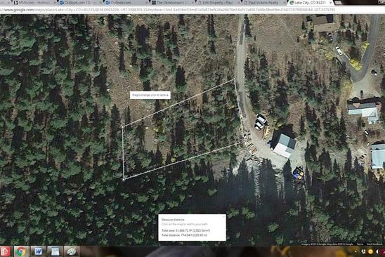 null bed null bath Vacant Land at 1551 Monte Queen Rd Lake City, CO, 81235 is for sale at 50k - google static map