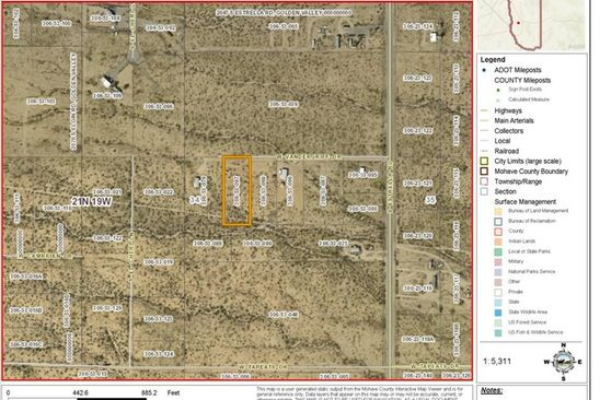null bed null bath Vacant Land at 7588 W Vandergriff Rd Golden Valley, AZ, 86413 is for sale at 27k - google static map